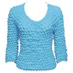 Silky Touch Popcorn - Three Quarter Sleeve - Turquoise