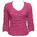 Silky Touch Popcorn - Three Quarter Sleeve - Fuchsia