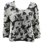 Silky Touch Popcorn - Three Quarter Sleeve - African White-Black
