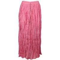 Skirts - Long Cotton Broomstick with Pocket - Solid Pink