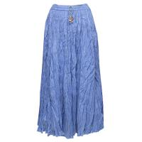 Skirts - Long Cotton Broomstick with Pocket - Solid Denim