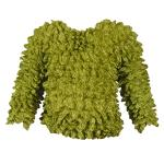Silky Touch Popcorn - Kids Size  - Long Sleeve Leaf Green
