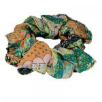 Georgette Scrunchies -  Paisley Floral Cool