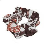 Georgette Scrunchies -  Chocolate-Ivory Floral