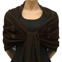 Georgette Shawls - Solid Dark Brown