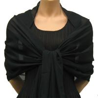 Georgette Shawls - Solid Black