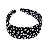 Georgette Headbands -  Polka Dot Black-White