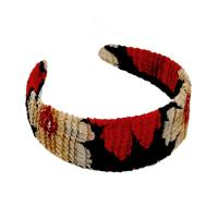 Georgette Headbands -  Hibiscus Red-Tan