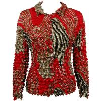 Coin - Cardigan - Zebra Red-Brown