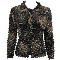 Coin - Cardigan - Abstract Flowers Black-Tan