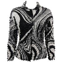Coin - Cardigan - Swirl Black-White