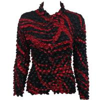 Coin - Cardigan - Swirl Black-Red