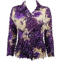 Coin - Cardigan - Rose Floral - Purple