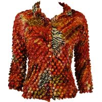Coin - Cardigan - Abstract Zebra Red-Orange