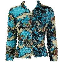 Coin - Cardigan - Abstract - Sky Blue-Ivory