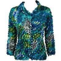 Coin - Cardigan - Abstract Zebra Blue-Green