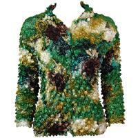 Coin - Cardigan - Floral - Green-Gold