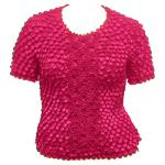 Queen - Coin Fishscale - Short Sleeve - Hot Pink