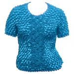Queen - Coin Fishscale - Short Sleeve - Turquoise