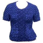 Queen - Coin Fishscale - Short Sleeve - Royal