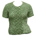 Queen - Coin Fishscale - Short Sleeve - Sage