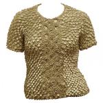 Queen - Coin Fishscale - Short Sleeve - Champagne