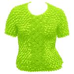 Queen - Coin Fishscale - Short Sleeve - Vivid Green