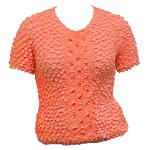 Queen - Coin Fishscale - Short Sleeve - Tangerine