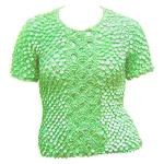 Queen - Coin Fishscale - Short Sleeve - Vivid Mint