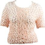 Queen - Coin Fishscale - Short Sleeve - Peach