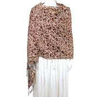 Pashmina Style Shawls - Woven Prints - Cheetah - Brown-Camel
