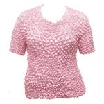 Silky Touch Popcorn - Queen Short Sleeve - Baby Pink