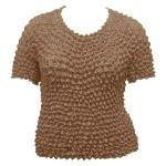 Silky Touch Popcorn - Queen Short Sleeve - Mocha