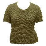 Silky Touch Popcorn - Queen Short Sleeve - Olive