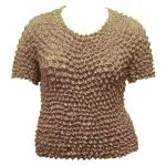 Silky Touch Popcorn - Queen Short Sleeve - Taupe