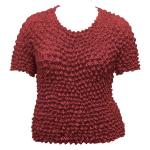 Silky Touch Popcorn - Queen Short Sleeve - Cranberry