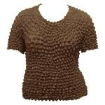 Silky Touch Popcorn - Queen Short Sleeve - Chocolate Brown