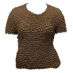 Silky Touch Popcorn - Queen Short Sleeve - Brown