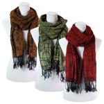 Scarves - Pleated Pashmina Style 042