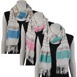 Scarves - Striped Ruched 028