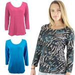 Slinky Travel Tops - Three Quarter Sleeve