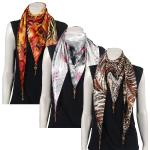 Scarves - Satin Triangle with Pendants