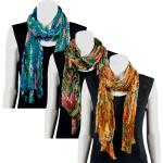 Scarves - Crinkle Tropical 50386