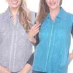 Diamond Zipper Vests