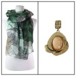 Scarves - Havana Breeze 1634 w/ Pendant