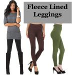 Fleece Lined Leggings - Ankle Length Solids