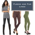 Winter Leggings - Fleece and Fur Lining