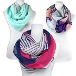 Cotton Feel Infinity Scarves for Spring and Summer