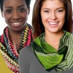 Cotton Feel and Jersey Knit Infinity Scarves