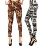 Fur Lined Leggings - Ankle Length Prints